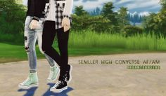 Semller High Converse AM/AFAM/AF8 swatchesCREDIT: @semller; thank you for the awesome mesh and cool TOU→ Please don't repost/reupload→ Feel free to recolor but please don't include the mesh and send me the link so I can reblog and enjoy it as well Used in the preview: Tops: 1 and 2 / Pants: 1 and 2 / Pose by @juoo***DOWNLOAD: SimFileShare