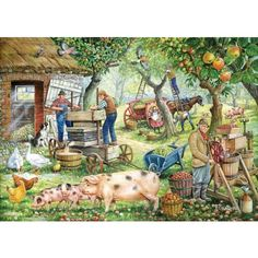 Cider Makers Jigsaw Puzzle from Jigsaw Puzzles Direct - Order today and Get Free Delivery