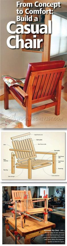 Lounge Chair Plans - Furniture Plans and Projects   WoodArchivist.com