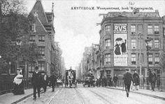 Weesperstraat hoek Nieuwe Keizersgracht ca. 1900.