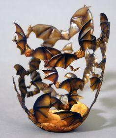 Vintage Bat vase