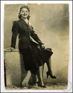 1940's WW2 Vintage Autographed Anne Shirley 9x7  Movie Actress Publicity Photo