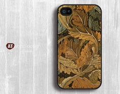 classic  leaf graphic Hard case Rubber case iphone 4 by Atwoodting, $6.99