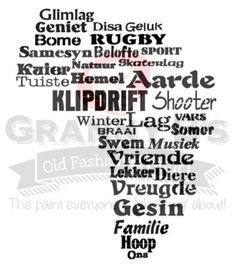 Afrika (Afrikaans) Stencil – Granny B's Old Fashioned Paint Quotes Dream, Life Quotes Love, Cute Quotes, Robert Kiyosaki, Napoleon Hill, Tony Robbins, African Shop, Afrikaanse Quotes, Home Workshop