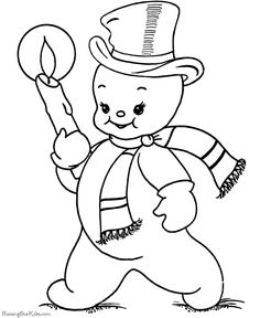 Printable Christmas snowman coloring pages!