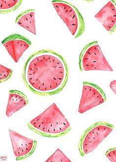 Ich liebe Wassermelonen und dieses Wasserfarben-Bild mac… – Famous Last Words Cute Backgrounds, Cute Wallpapers, Wallpaper Backgrounds, Iphone Wallpaper, Iphone Backgrounds, Summer Wallpaper, Colorful Wallpaper, Water Colour Wallpaper, Watercolor Pictures