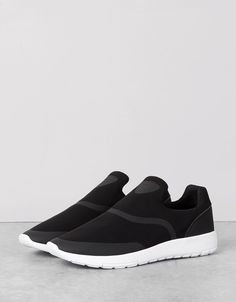 bee590fe6089a Men s mesh sports slip-on sneakers. Discover this and many more items in  Bershka