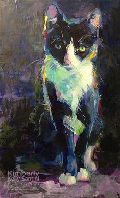"Daily Paintworks - ""Mums Kitten"" - Original Fine Art for Sale - © Kimberly Santini"