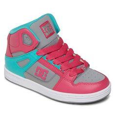 dcshoes, Kid's Rebound Shoes, PINK/DARK GREY (pg0)