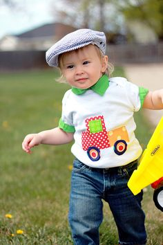 1st Birthday PickUp Truck Shirt by PinkPosieCouture on Etsy, $17.00