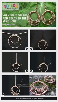 Wire Wrapped Earrings-Add Beads To The Wire Hoop Pictures, Photos, and Images for Facebook, Tumblr, Pinterest, and Twitter