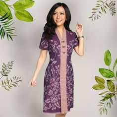 Model Dress Batik, Batik Dress, Blouse Batik Modern, Dress Batik Kombinasi, Batik Blazer, Batik Kebaya, Figure Flattering Dresses, Batik Fashion, Thai Dress