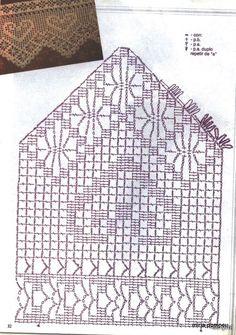 Diy Crafts - Crochet and arts: Crochet lace Filet Crochet, Crochet Motifs, Crochet Borders, Crochet Diagram, Crochet Stitches Patterns, Crochet Chart, Crochet Trim, Crochet Lace, Stitch Patterns