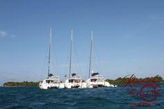 Our three catamarans nestled