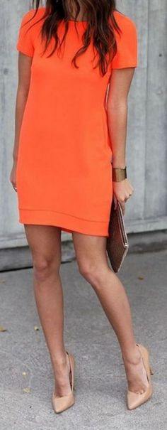 #summer #outfits / orange