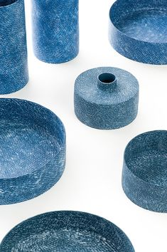 A Common Code – Weaving Indigo by Ceramic Artist Aor Sutthiprapha – OEN Ceramic Tableware, Ceramic Clay, Porcelain Ceramics, Ceramic Pottery, Pottery Art, Slab Pottery, Painted Porcelain, Ceramic Bowls, Decorative Objects
