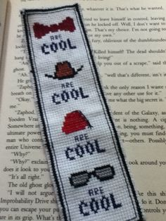 "A Doctor Who bookmark I made with Eleven's favorite ""cool"" things."