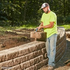 Anyone with a strong back can stack up a bunch of blocks and build a pretty retaining wall. But it takes skill and planning to construct an attractive wall that can also handle immense pressure, shrug