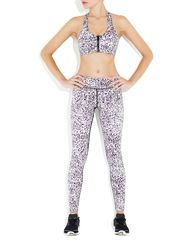 Rockell Compression Tights in Snow Leopard   Vie Active at Fire and Shine   Womens Leggings