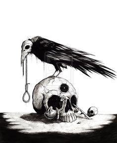 A Murderous Crow by ShawnCoss.deviantart.com