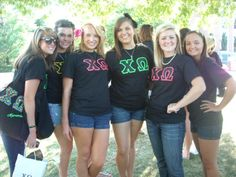 Chi O sisters on Bid day!
