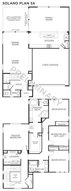 Love this floor plan! Inspirada Homes - Floor Plans | 4 Bedrooms, 2.5 Baths | Solano Neighborhood