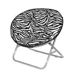 Urban Shop Zebra Faux Fur Saucer Chair (bestseller)