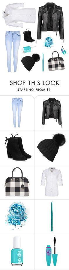 """""""Something different!"""" by the-pink-poppy on Polyvore featuring Glamorous, Boohoo, Black, Kate Spade, Mexx Metropolitan, In Your Dreams, NYX, Essie and Maybelline"""