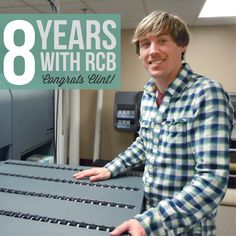 Happy Eight Year #Workiversary to our awesome Wide Format Manager, Clint! We wish you many more with R.C. Brayshaw!