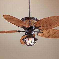 "52"" Minka Shangri La Vintage Rust Ceiling Fan"