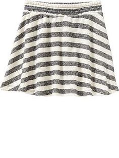 Girls Patterned Terry-Fleece Skirts | Old Navy
