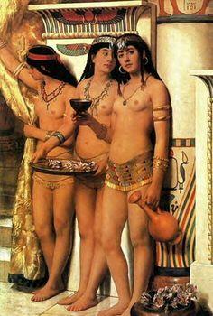 The Pharaohs Handmaidens, by John Collier, 1883.