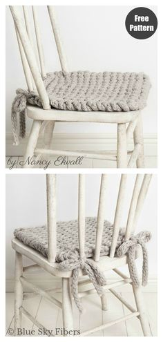 Chair Pad Free Knitting Pattern and Paid Update your chairs with style and comfort by knitting up this Chair Pad Free Knitting Pattern. The chair pads bring a warm, cozy vibe to any dining area. Knitting Blogs, Knitting Yarn, Free Knitting, Knitting Patterns Free, Crochet Patterns, Finger Knitting, Scarf Patterns, Knitting Tutorials, Knitting Machine