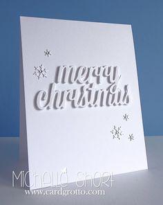 The Card Grotto: White On White - DTDF    Thursday, 14 November 2013