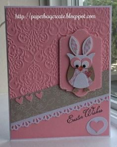 Easter Card with Owl Punch Bunny . . . so cute