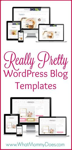 If I had to start a blog all over again, these are the blog templates I would use! I love how pretty, clean and functional they are! #Blogging