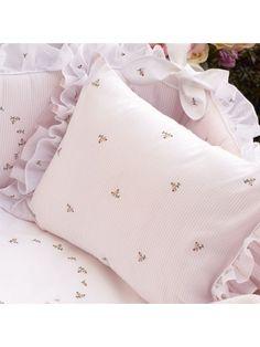 Rosebuds Nursery Boudoir Pillowcase