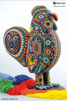 The Huichol Art with PRECIOSA seed beads (Seed Beads Rooster)