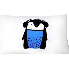 Blue Penguin Pillowcase - Single – Henry and Co Homewares Home Design Decor, House Design, Next Bedroom, Things To Buy, Decorative Accessories, Penguins, Screen Printing, Pillow Cases, Snoopy