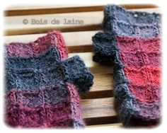 Mitaines en granny - Laine DARLING de chez KATIA, crochet N°2