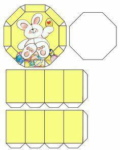 Cajita octogonal con tapa.