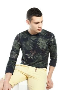 Bershka Indonesia -Floral print sweatshirt