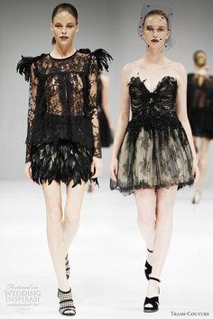 Trash Couture wedding dresses spring 2012 - black swan ballet inspired bridal looks