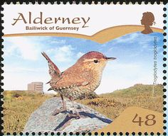 Eurasian Wren stamps - mainly images - gallery format
