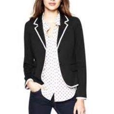 Gap academy blazer Black w/ gray piping. EUC & fits TTS. GAP Jackets & Coats Blazers