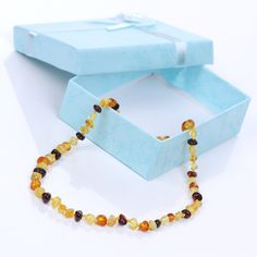 Ariz Products Baltic Amber Teething Necklace, Natural Pain Relief, Beaded Necklace, Jewelry, Products, Beaded Collar, Jewlery, Pearl Necklace, Jewerly