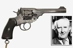The Webley Mark VI revolver which belonged to JRR Tolkien Weapons Guns, Guns And Ammo, Webley Revolver, Hand Cannon, Cartouches, Jrr Tolkien, Cool Guns, Pew Pew, Peaky Blinders
