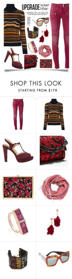 """Fashion Icon"" by justinallison ❤ liked on Polyvore featuring Balmain, Prada, L'Autre Chose, Michael Kors, Alice + Olivia, Lost & Found, Monica Vinader, Tory Burch, Lulu Frost and Gucci"
