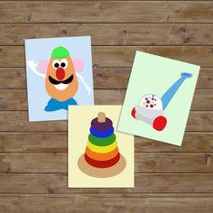 Nursery Art. Classic Toys. Nursery Wall Art. Kids by KryderPrints, $35.00