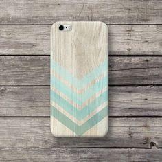 Handytaschen - Holz Chevron Türkis Hülle für Handy iPhone Sony LG - ein Designerstück von michaelcase bei DaWanda
